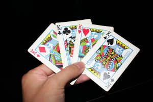 Percentages for AK in different poker hands
